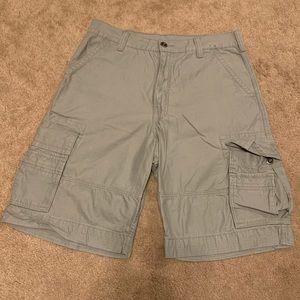 Men's Grey Levi's Cargo Shorts 34